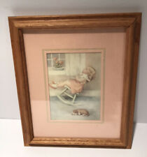 Vintage Print Bessie Pease Gutmann The Lullaby Framed and Matted Original