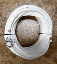 """5/16"""" x 45 ft. Natural/White Spun Dac/Polyester, w/Fixed Bail S/S Snap Shackle"""