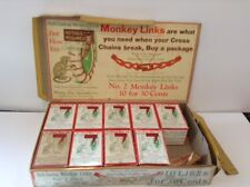 """1932 NOS Tire Chain """"Monkey Links"""" Display and 9 Boxes"""