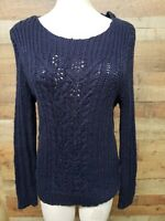 Jones New York Persian NAVY Sweater Women's Shirt Size: XL New With Tags