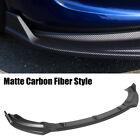 Front Bumper Lip Spoiler For Tesla Model Y 2020-2021 Matte Carbon Fiber Style