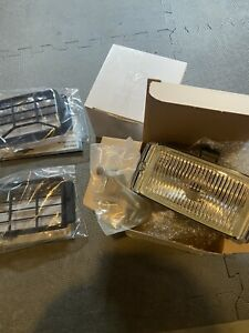 Bosch Pilot 150 Fog Lamps with Covers Grills SAAB Volvo BMW Porsche