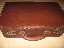 Antiker Koffer,Transportkoffer 1930.Jahre aus Leder genäht-Old decora