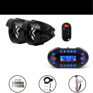 motorcycle Anti~Theft Speakers USB Audio System Stereo Bluetooth Motor Remote