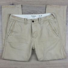 Abercrombie & Fitch Men's Chino Pants Size 31/30 EUC Actual W33 L28 (I17)