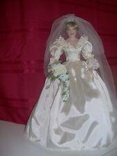 Franklin Mint Porcelain Princess Diana Wedding Doll