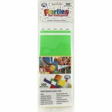 TYVEK WRISTBAND LIME GREEN PACK OF 100 EVENT PARTY ENRTY IDENTIFICATION PROOF