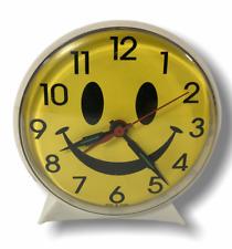 Vintage Smiley Face Clock Smile Face Novelty Wind-Up Alarm Clock