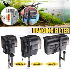 8W External Hang On Filter Surface Skimmer Waterfall Mini Aquarium Fish Tank