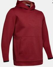 Under Armour Recover Fleece Graphic Red Hoodie Sz. Small