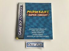 Notice - Mario Kart Super Circuit - Nintendo Game Boy Advance GBA - PAL NEU5