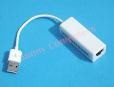 USB 2.0 to Ethernet LAN RJ45 Adapter 10/100Mbps for Windows OS Apple Mac MacBook