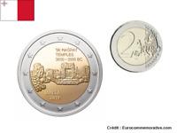 2 Euros Commémorative Malte 2019 Temple Ta Hagrat UNC