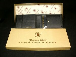 Vintage Jonathan Haager Leather Wallet in Box