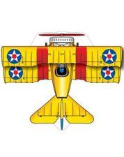 Xkites MicroKite Planes Bi-Plane 4.75 inch Yellow Kite