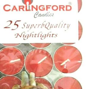 25 CINNAMON SCENTED TEA LIGHTS CANDLES TEALIGHTS 8 HOURS  SUPERB QUALITY