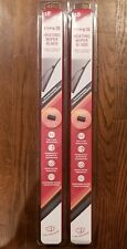"""2 PACK - 18"""" TYPE S Heating Heated Wiper Blades Connects To Vehicles Battery"""
