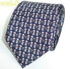 SALVATORE FERRAGAMO midnight YEAR OF THE MONKEY silk MENS tie NWT Authentic $190