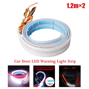 2PCS Car Door LED Light Strip Side Decor Slim Strip Running Sequential Flow Lamp