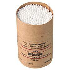 Muji☀Japan-Cottton Buds Swab Thin White Refill 200P,JAIP.