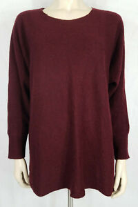 Philosophy Dane Lewis burgundy 100% Cashmere pullover sweater womens 1X