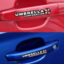 Cute Car Decal Stickers PET Door Handle Grip Decal Zombie Resident Evil Umbrella