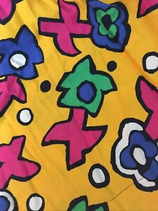 Vibrant 1980's Pop Art Revival Skirt Suit Fabric Upcycle