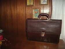ALESSANDRO VENANZI LEATHER CARRY CASE dark cordovan style #9953 with lock NEW