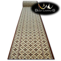 Thick Hall Runner OPTIMAL ANATIS BEIGE Width 67-100 cm extra long soft RUGS