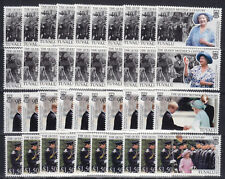 10 x Tuvalu 1999 Geburtstag Königin Mutter Queen Mum Mi.Nr. 837-40 ** MNH