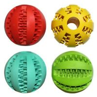 Small Dog Puppy Chew Toys Pet Treat Dispenser Balls Elastic Rubber Ball Toy New