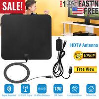 ViewTV 50 Miles Range Flat HD Digital Indoor Amplified TV Antenna with Amplifier
