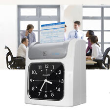 Employee Attendance Punch Time Clock Payroll Recorder LCD Display Card      1