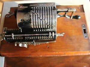 Antique Trinks Brunsviga Mechanical Calculator. Germany, Circa 1920 Working Pin-