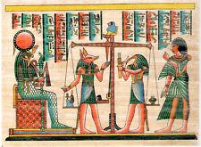 Artisanat égyptien véritable papyrus - jugement de l'âme Seth, Anubis, Tefnout