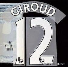 Arsenal Giroud 12 Premier League Football Shirt Name Set Home ps pro Sporting ID
