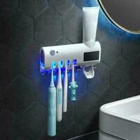 Automatic UV Light Toothbrush Sterilizer Toothpaste Squeezers Holder Q5H3 L3E4