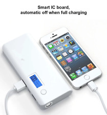 20000 mAh Power Bank White Grey - iPhone, iPad, Samsung, virtually all Mobiles!