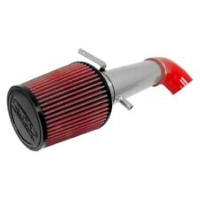 For Ford F-150 97-03 Aluminum Polished Short Ram Air Intake System w Red Filter