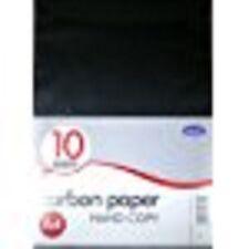 Club A4 Black Carbon Paper, 10 Sheets - Hand Copy, Duplicate Copy Paper - CB208