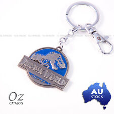 Jurassic World Logo Keychain Keyring Collectable Blue