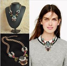 Statement Halskette Collier Strass Kristalle Perle Vintage Altgold Opulent neu