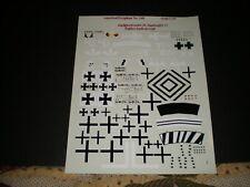 AMERICAL/GRYPHON SHEET NUMBER 140 JASTA 15 FOKKERS 1/48, MINT!