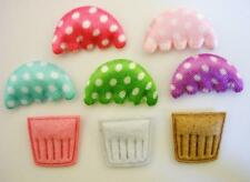 110 DIY Felt/Satin Polka Dot Little Cupcake Applique/Craft/Trim/Padded/Baby H301