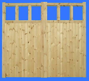 TIMBER HAND MADE GARAGE DOORS 'SHEPTON' 7' Wide (2134mm)  X 7' High (2134mm)