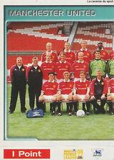 N°312 TEAM EQUIPE 1/2 MANCHESTER UNITED.FC STICKER MERLIN PREMIER LEAGUE 1999