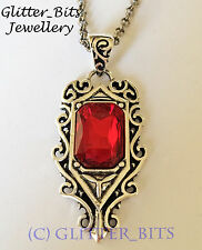 MORTAL INSTRUMENTS ISABELLE LIGHTWOOD NECKLACE PENDANT RUBY SHADOWHUNTER JACE
