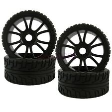 4PCS 17mm HEX RC 1/8 On-Road Car Buggy Foam Rubber Tyre Tires Wheel Rim 84B-803