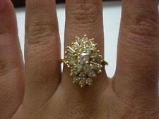 LADIES 14KYG DIAMOND 1.25CTW CLUSTER RING, 5.6GR (xpv710-01)