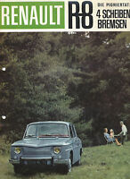 Renault R8 Prospekt 12 S. brochure Auto PKWs Autoprospekt Frankreich Europa R 8